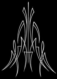 Pinstripe Pinstriping Airbrush Stencil Template Art VC1 on PopScreen