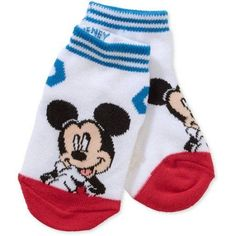 Clubhouse Mickey Mouse Toddler Baby Boy Quarter Socks, 3-Pack, Size: 3-5T, White