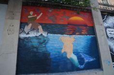 """El Muro de POR FAVOR y SEVEN LOGOS en el Proyecto """"Muros"""".#ArteTabacalera Promoción del Arte #ArteUrbano #StreetArt Madrid Día 6 #Arterecord 2014"""