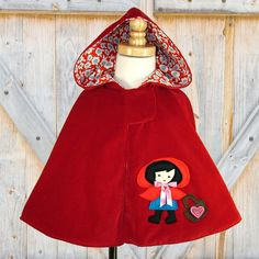Girls Cape Cape pattern Red Riding Hood - so cute!!