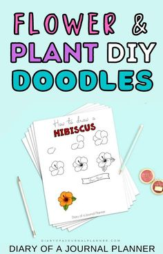 Make your bullet journal pop with these flower and plant doodle tutorials! #bulletjournaldoodles #doodles #doodletutorials Bujo Doodles, Love Doodles, Simple Doodles, Bullet Journal Printables, Bullet Journal Art, Art Journal Pages, Doodle Quotes, Flowers Today, Doodles Zentangles