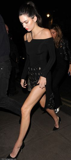 Legs for days: Kendall Jenner looked stunning as she arrived at the Launch of The Estee Ed...