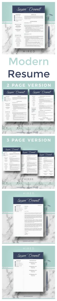 Bold And Modern Resume Template Professional Resume Template For