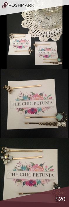 Boutique bobby pins Beautiful bobby pins! 😊 The Chic Petunia Accessories Hair Accessories