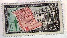 """1958 algérie on post stamp"""