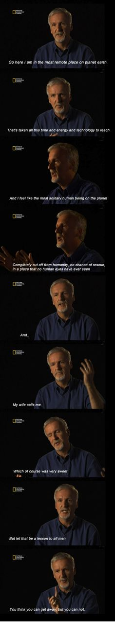 James Cameron on women.