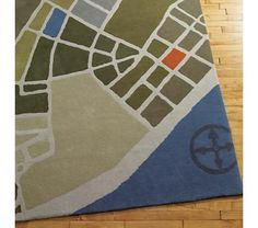 Land of Nod - Flyover Rug - perfect for the aviation room