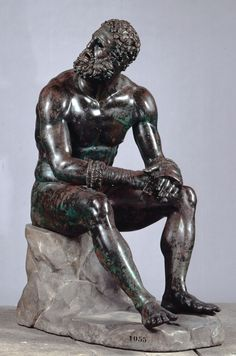 Boxer at Rest is a Hellenistic bronze sculpture from the 4th century B.C. which was discovered during construction of the now-defunct National Dramatic Theater on the Quirinal Hill (Rome) in 1885.