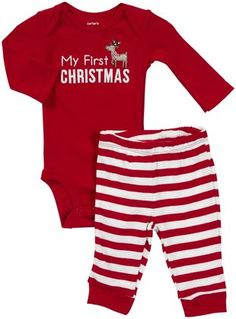 a0a90b18137c Carter s My 1st Christmas Take Me Away – Red- 12 Months Boys Christmas  Outfits