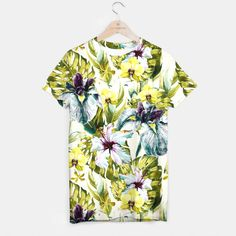 Flowering tropical jungle pattern Camiseta