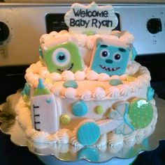 Monsters Inc Baby shower cake Cake Ideas Pinterest Shower