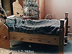 Viking slat bed - OK, so it's not SO far beyond the realm of possibility that the Vikings may have traded bed-making ideas with Central Asian nomads, right?  RIGHT???