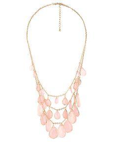 Opaque teardrop necklace...cute $6.80 Forever21