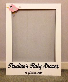 Cadre photobooth baby shower par cree-graphic