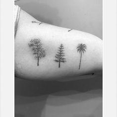 Billedresultat for palm tree tattoo simple