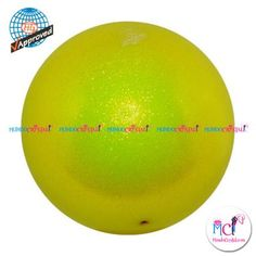 #Pelota de Gimnasia #Rítmica Pastorelli glitter-HV-amarillo-fluor