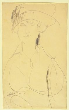 Portrait of a Woman by Amedeo Modigliani : Sanjeev.NETwork