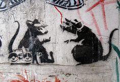 Banksy Rats...gotta love em!