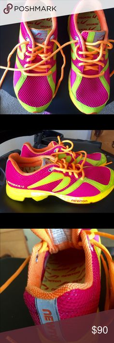 Newton Distance U, awesome for speed. Woman's beautiful running shoes. Wore once my foot shrunk to a 6. Love Newton shoes. This company makes shoes for Elite runners. Love them. Newton Shoes Athletic Shoes