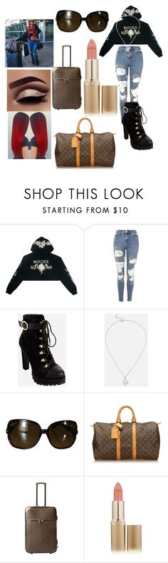"""""""fav female rapper"""" by jasmine-stepter on Polyvore featuring Topshop, Ashley Stewart, JustFab, Gucci, Louis Vuitton and L'Oréal Paris"""