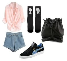 """""""da daaaan"""" by mariavako ❤ liked on Polyvore featuring WithChic, Boy Meets Girl, Puma and Rebecca Minkoff"""