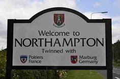 'Welcome to Northampton' Northampton is twinned with: Marburg, Hessen, Germany & Poitiers, Vienne, France. The terms twin towns and sister cities are used to describe a form of cooperative agreement made between towns, cities, states and even countries in geographically and politically distinct areas to promote cultural and commercial ties. The European Commission uses the term twinned towns.