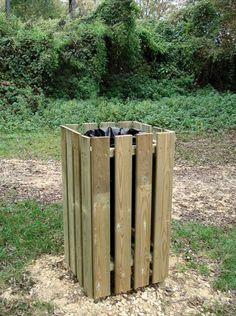 Poubelle bois sans couvercle - Code produit: 7321872  - Cliquez sur la photo pour voir la fiche produit