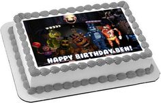 Five Nights at Freddy's 7 Edible Birthday Cake Topper OR Cupcake Topper, Decor - Edible Prints On Cake (Edible Cake &Cupcake Topper)
