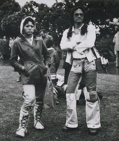Ans Westra Maori Land March, Parliament Grounds, Wellington, 1975