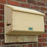 Large bat house ~ With 2 chambers and a slot opening at the bottom, this house is perfect for all species of small, insectivorous bats.