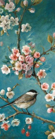 Blossom III Art Poster Print by Lisa Audit, prints Details about Tangletown Fine Art Spring Renewal III by Lisa Petty Poster Frame - 20 x 20 x Painting & Drawing, Watercolor Paintings, Bird Art, Beautiful Birds, Painting Inspiration, Flower Art, Canvas Art, Framed Canvas, Framed Prints
