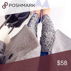 {H & M} Sequin Pants New with tags. Size 6 - color silver H&M Pants Trousers