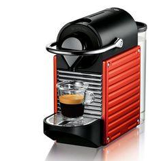 Krups - - Nespresso Pixie - Machine à Espresso - Rouge Electrique Café Espresso, Espresso Maker, Expresso, Espresso Kitchen, Espresso Machine Reviews, Best Espresso Machine, Starbucks, Bar, Coffee Shop