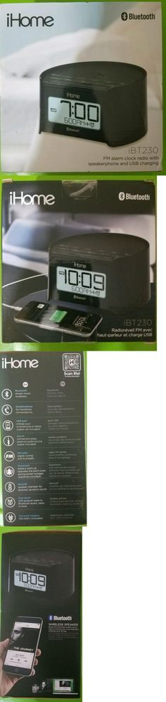 Alarm Clocks 79643: Ihome - Bluetooth Bedside Dual Alarm Clock Radio - Black -> BUY IT NOW ONLY: $32.99 on eBay!