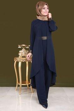 Chiffon Vest Evening Dress Tulle Laci – Thumbnail – Best Of Likes Share Abaya Fashion, Muslim Fashion, Fashion Dresses, Abaya Mode, Hijab Stile, Moderne Outfits, Iranian Women Fashion, Africa Dress, Abaya Designs