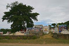 Begraafplaats op de eilandengroep Tonga, niet ver van Nieuw-Zeeland