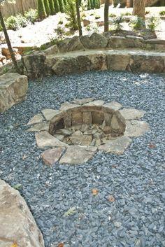 sunken fire pit
