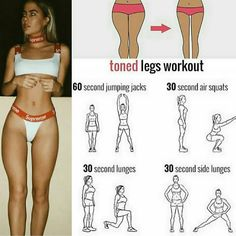 Toned Legs workout for a thigh gap! Tag a friend who'd like this workou… Toned Legs workout for a thigh gap! Tag a friend who'd like this workout! Fitness Workouts, Summer Body Workouts, Gym Workout For Beginners, Gym Workout Tips, Fitness Workout For Women, Body Fitness, Easy Workouts, At Home Workouts, Fitness Tips