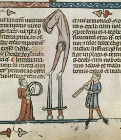 Performers Detail of a bas-de-page scene. France, S. (Toulouse?) Royal 10E f. 58