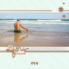 digital scrapbook layout made with supplies from paislee press at the lilypad