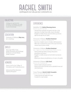 Stripe Color Block Resume Template Totally love this, except the Objective section should be changed to Summary or Core Competencies.