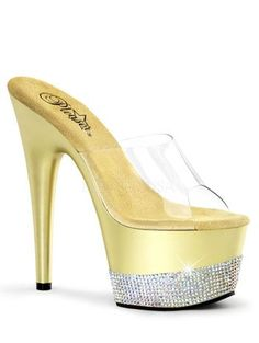 Pleaser Womens Open Toe Rhinestone Platform Sandal ** Visit the image link more details.