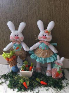 Cute easter rabbits PDF pattern