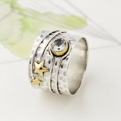 Jewelry & Watches Constructive 925 Sterling Silver Mother-of-pearl Floral Leaf Ring Size 7.5 We Take Customers As Our Gods