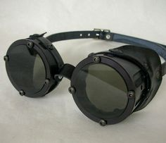 Cyber Industrial Goggles Solid Black Finish  by ApocalypseHardware, $66.00