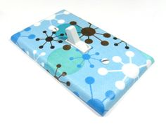 Sky Blue Retro Starburst Light Switch Cover by ModernSwitch, $12.00