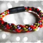 kumihimo bracelet with black magnetic clasp