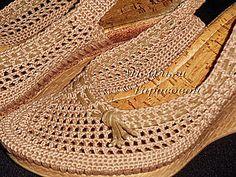 Restauración de zapatos, sandalias de ganchillo   Masters Feria - hecho a mano, hecho a mano