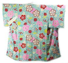 Cute plum blossom patterned juban (under kimono).
