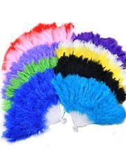 ventilateur de main molle de plume duveteuse (plus de couleurs)
